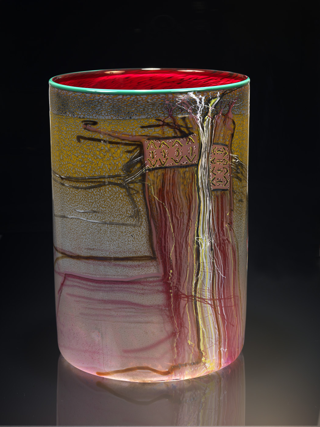 Blanket Cylinder Series, Dale Chihuly, 1984.