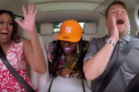 Michelle Obama's Carpool Karaoke Will Give You Life