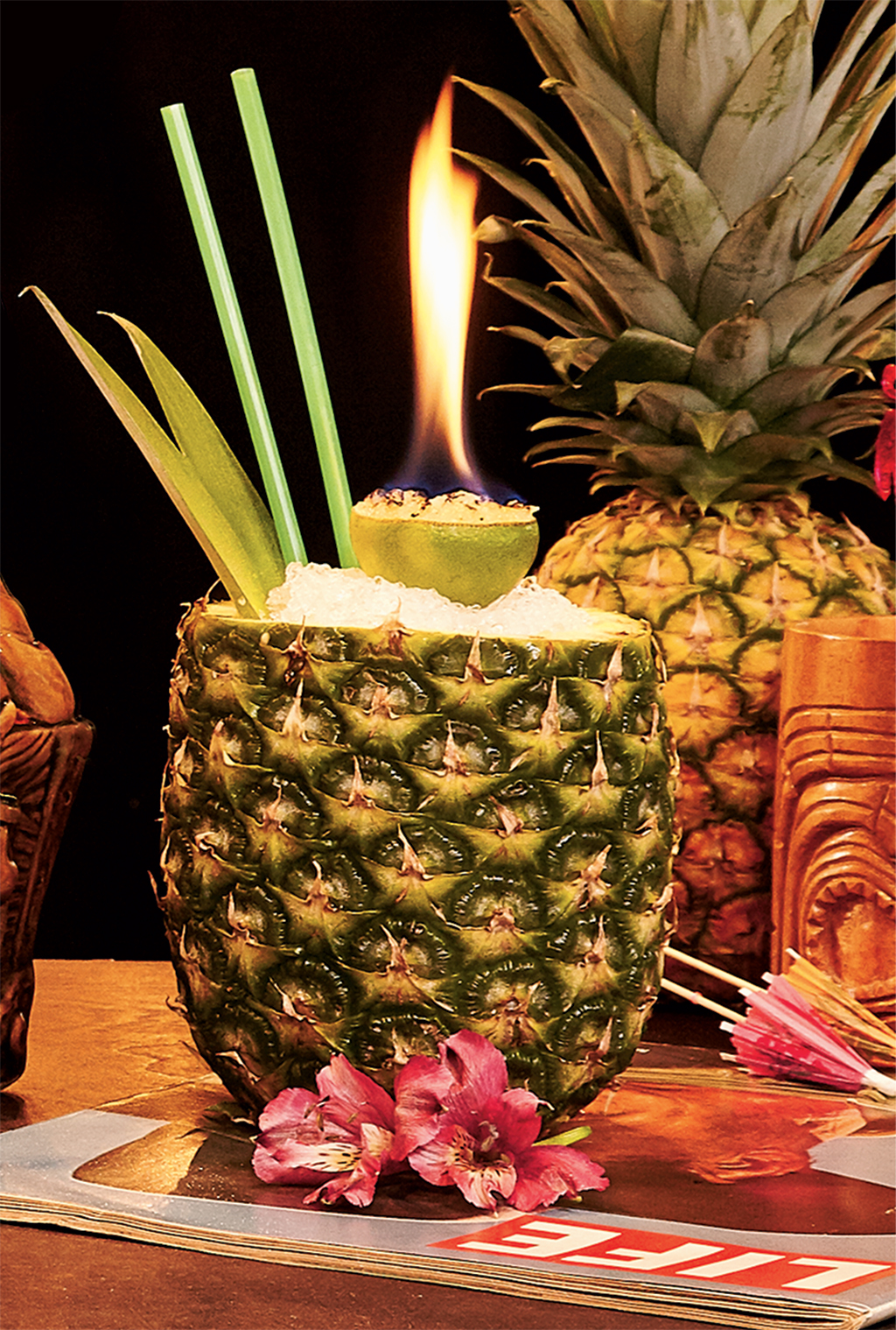 Pineapple of Hospitality tiki drink from Archipelago. Photograph by Jeff Elkins. (July 2016/Chesapeake Bay)