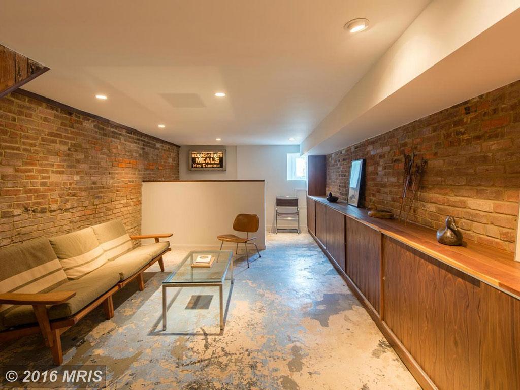 basement alexandria row house