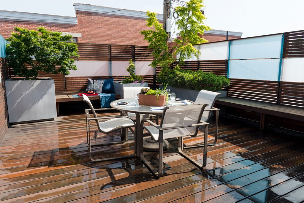 Capitol Hill roof deck inspiration: Horizontal wooden slats fit with the Zen vibe of the rest of this house. Photographs by Andrew Propp.
