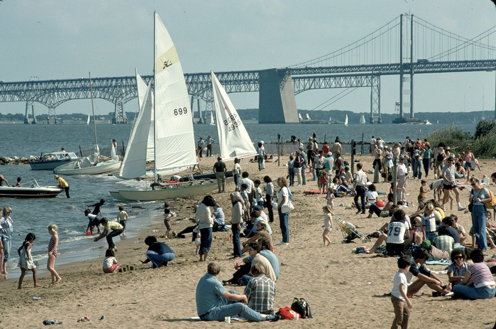 Sandy Point State Park. Photograph by Lowell George/Getty Images.