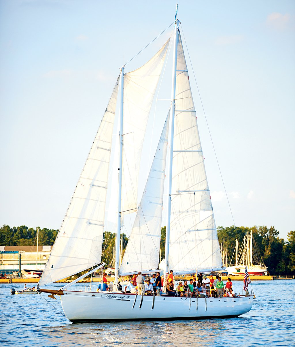 Chesapeake Bay getaway idea: Schooner Woodwind photograph by Scott Suchman