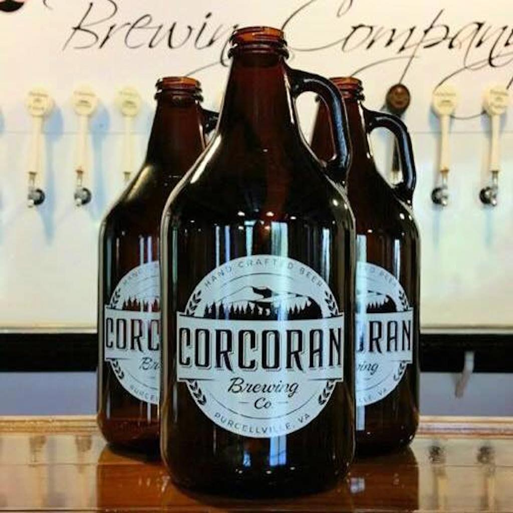 Corcoran Brewing, a spinoff of a winery, offers growlers in Purcelville. Photograph courtesy of Corcoran