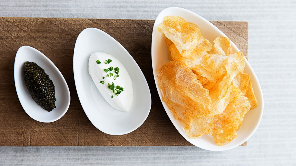 Get your fill of fancy potato chips at Kinship. Photograph by Scott Suchman.