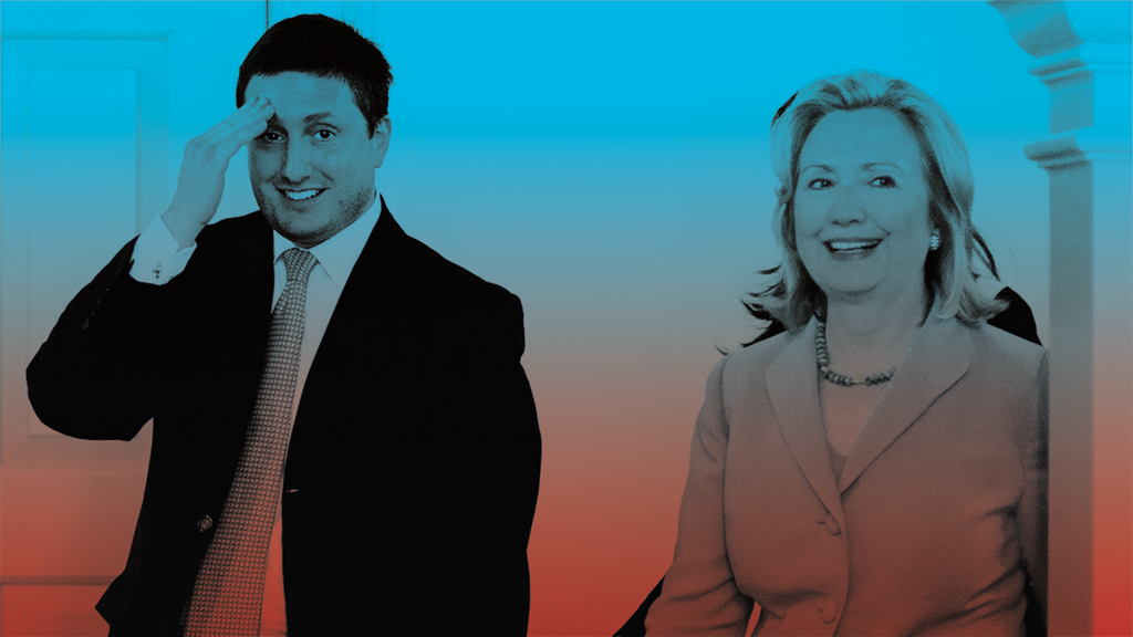 Phillipe Reines and Hillary Clinton. Photograph by Marvin Joseph/Getty Images.