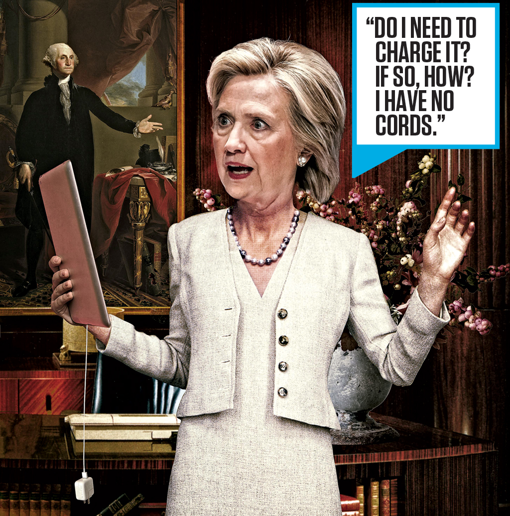Photograph of Clinton by Planetpix/Alamy. Photo-illustration by Eddie Guy.
