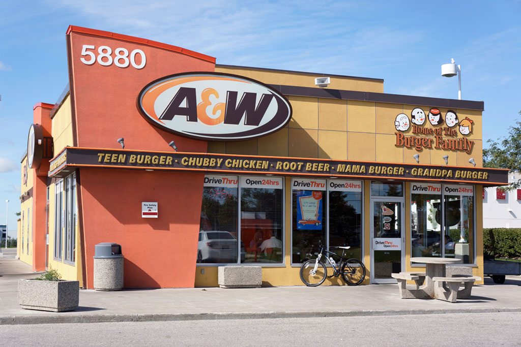Photograph of A&W by Helen Sessions/Alamy