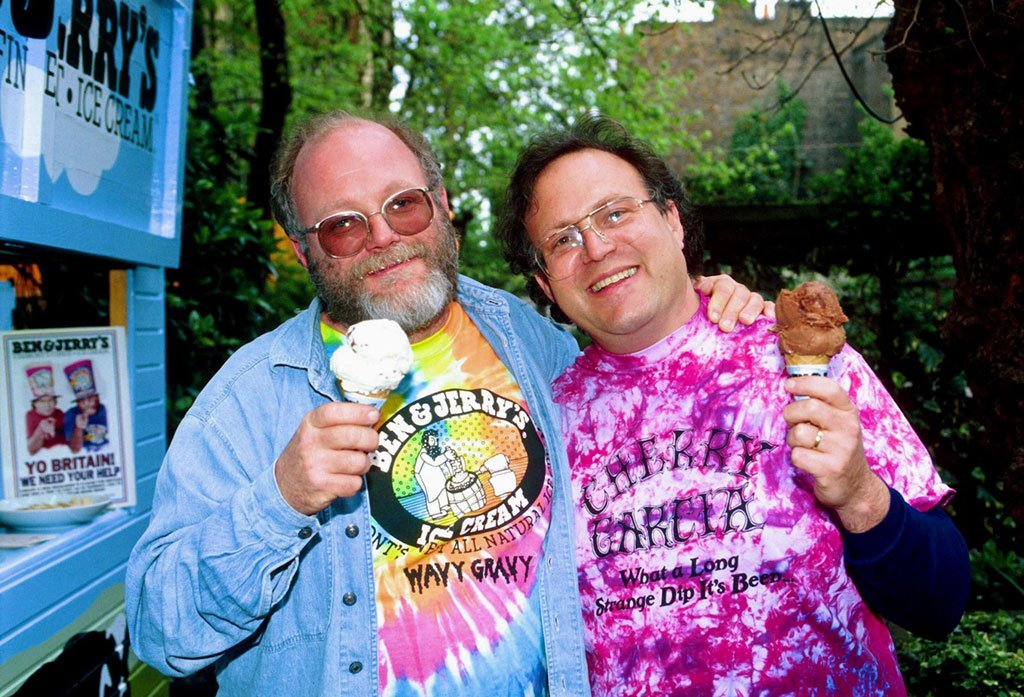 Ben Cohen and Jerry Greenfield. Photograph by Presselect/Alamy.