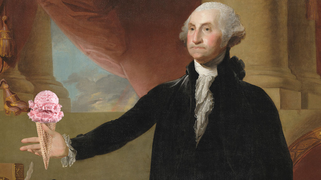 George Washington established ice cream as a standard presidential dessert.
