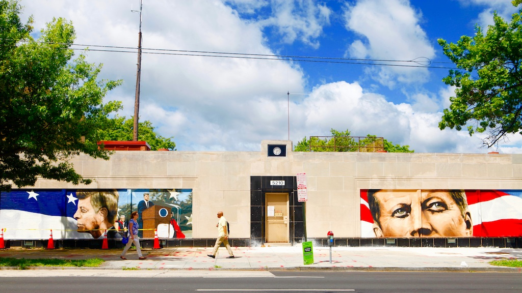 An Old Pepco Substation Will Host DC's First JFK Murals