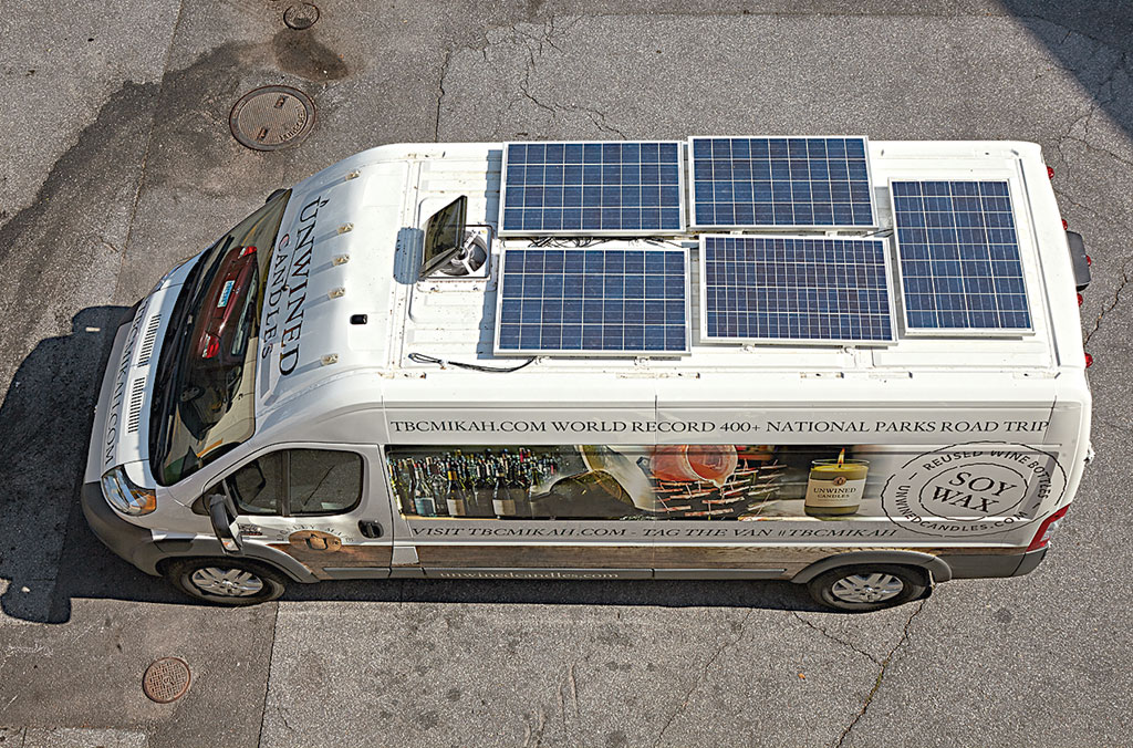 Most everyday needs are powered by solar panels. Photograph by Jeff Elkins.
