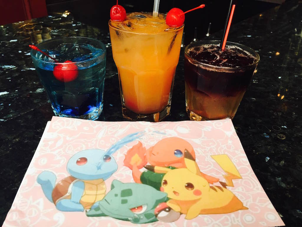 Pokémon-inspired cocktails at John Strongbow's.