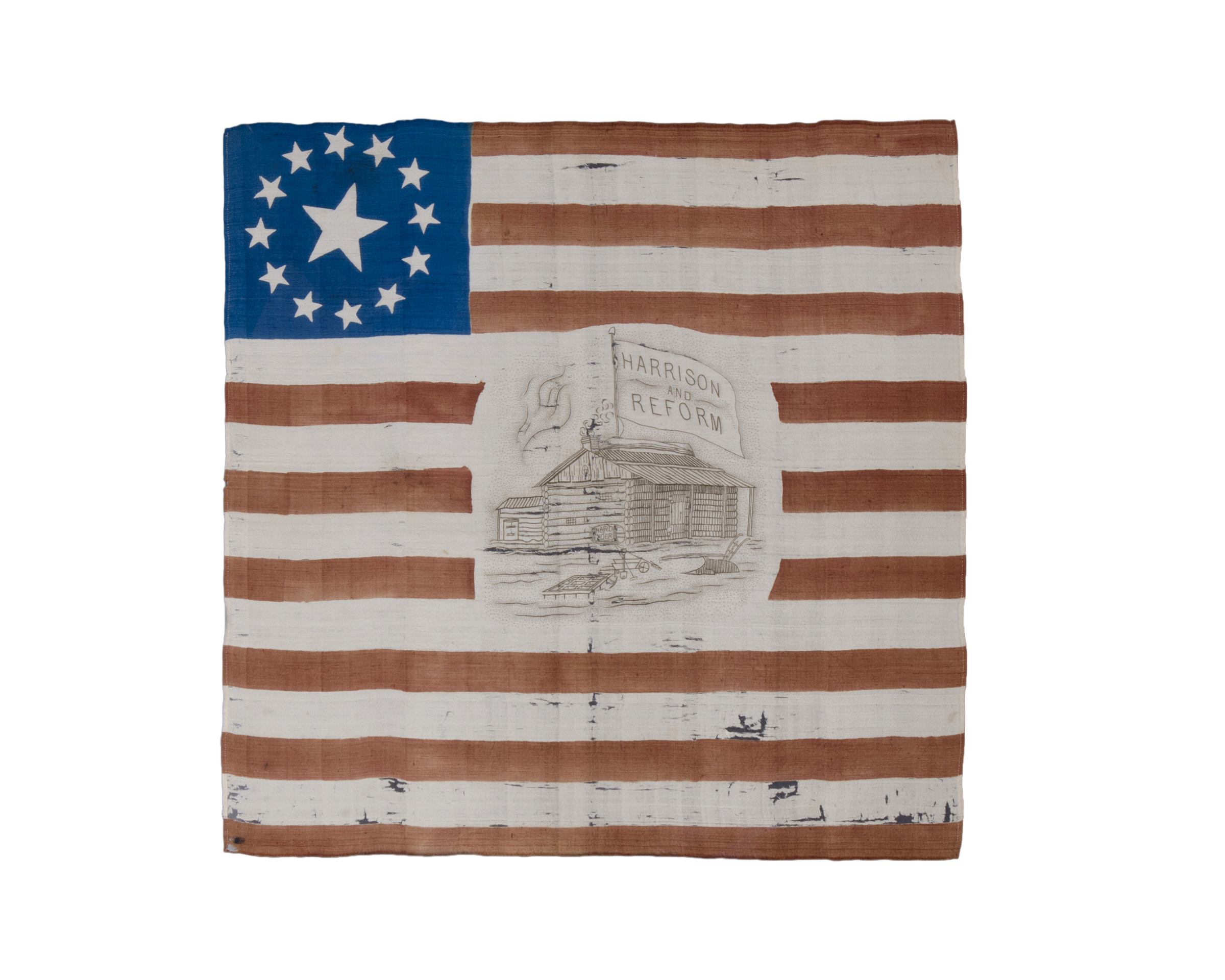 03_13-Star William Henry Harrison Campaign Parade Flag