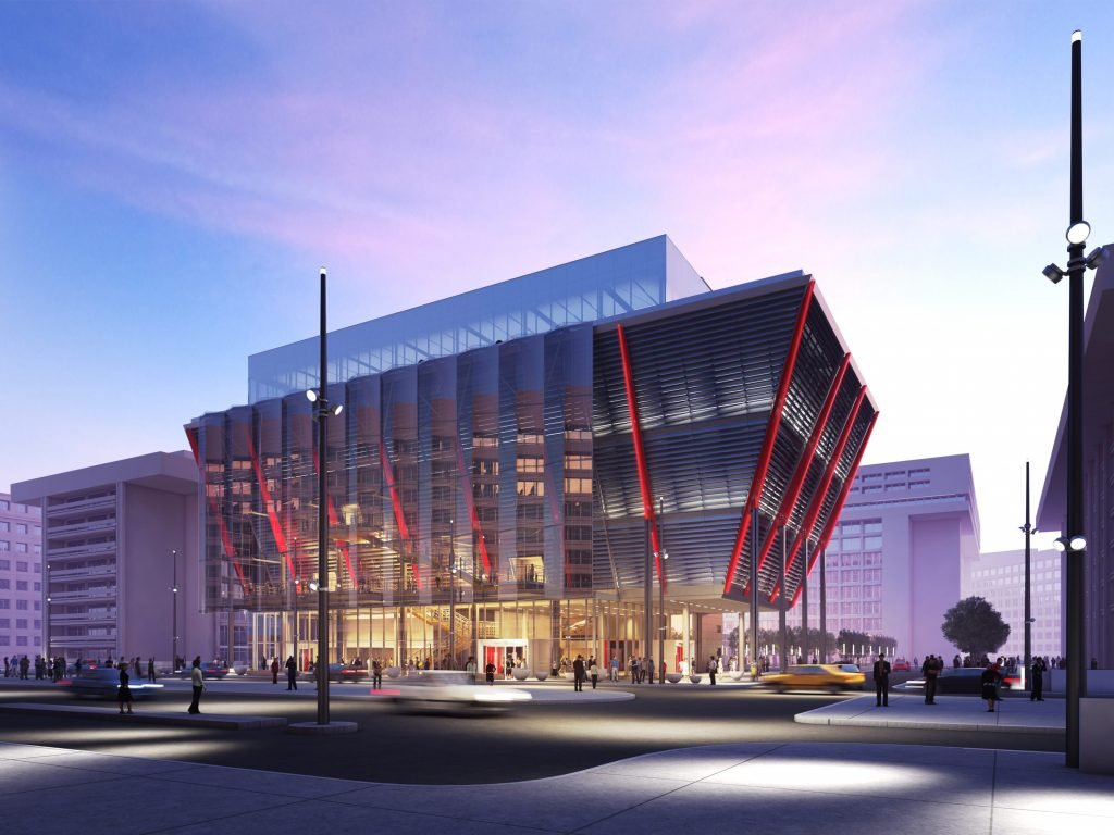 With its planned L'Enfant Plaza building, the International Spy Museum hopes to lure visitors south of the Mall. Rendering Courtesy of International Spy Museum.