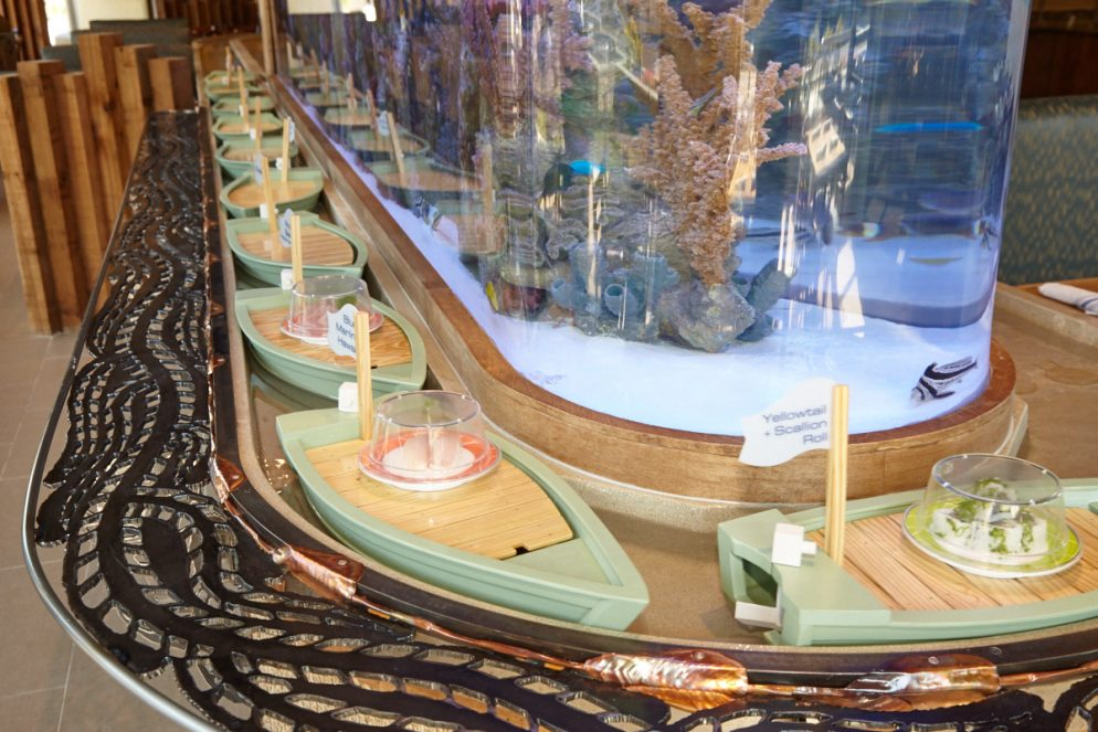 Your Sushi Arrives via Little Floating Boats at This New Sterling Restaurant