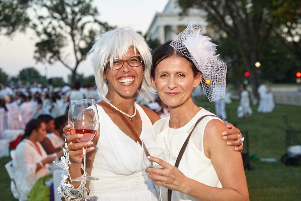 Orit Tamir and Adi Maizlin, two friends from Israel decided to return to this year's Diner en Blanc after enjoying it the previous year.