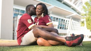 A Redskins-Themed Engagement Shoot at FedEx Field