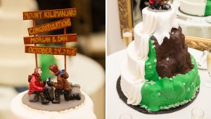 The Way This Couple Incorporated Their Proposal Story in Their Wedding Cake is Total Magic