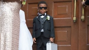 """Cutest Ring Bearer Idea Ever: Turn Him Into """"Ring Security"""" Like This Little Guy"""