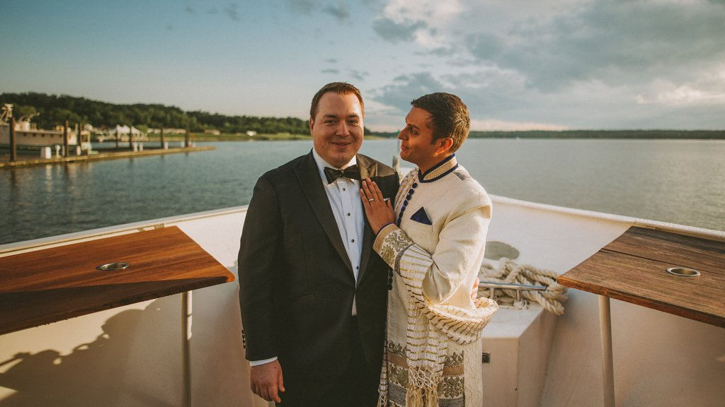 These Grooms Married on a Yacht in National Harbor and We are SO Jealous