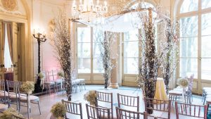 The Cherry Blossom Altar Steals the Show at This Elegant Meridian House Wedding
