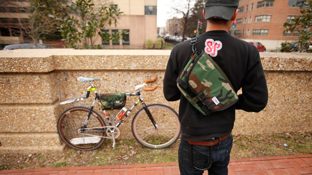 This DC Designer Wants Your Bike Frame Bag to Look Just as Good On Your Back as It Does on Your Bike