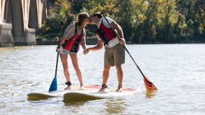 This Georgetown Paddleboarding Engagement Session is Summer Goals