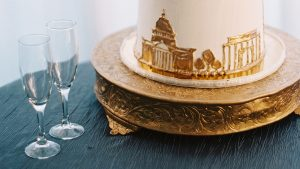You Need to See The Only-in-DC Cake at This Georgetown Wedding