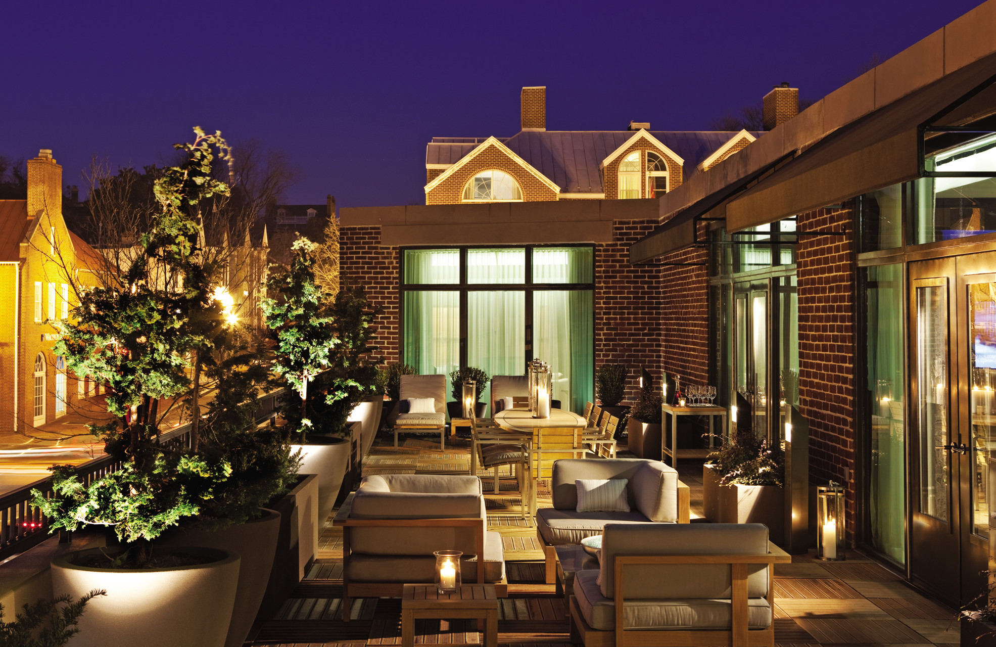 The private terrace of the Four Seasons' Suite; photo courtesy of The Four Seasons.