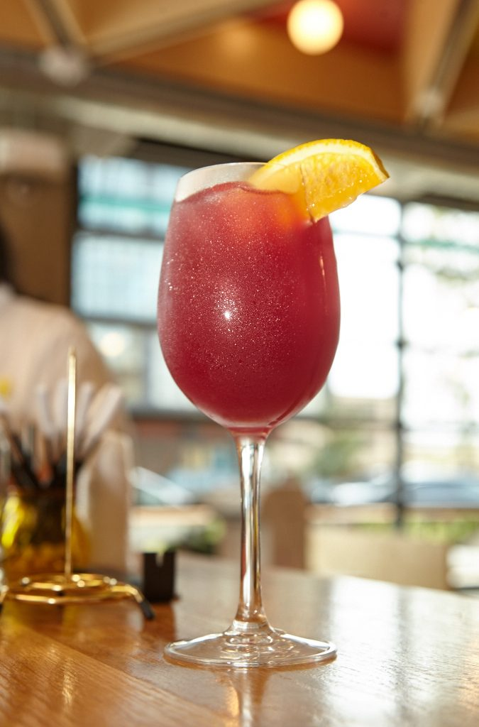 Cool off with sparkling sochu sangria.