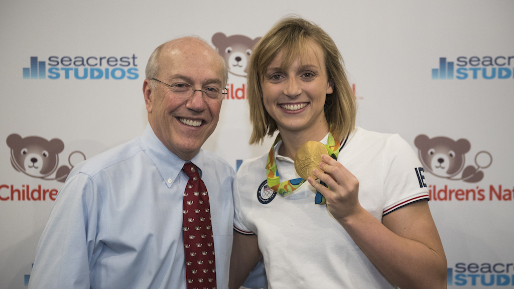 CEO Kurt Newman and Katie Ledecky. Photo courtesy of Children's National Health Systems.