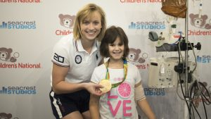 Katie Ledecky Is Back in DC to Visit Children's  Hospital