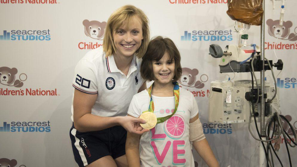 Katie Ledecky Is Back in DC to Visit Children's  Hospital