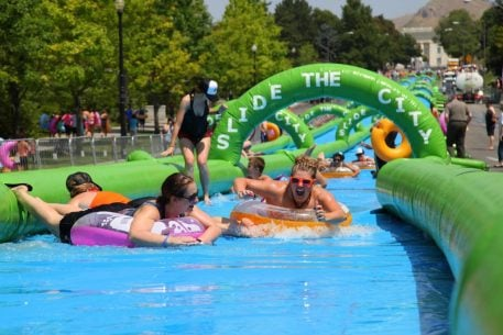 Things to Do in DC this Weekend (August 4-7): All-You-Can-Eat Burgers, Drinking with Dogs, and a 1,000-Foot Waterslide