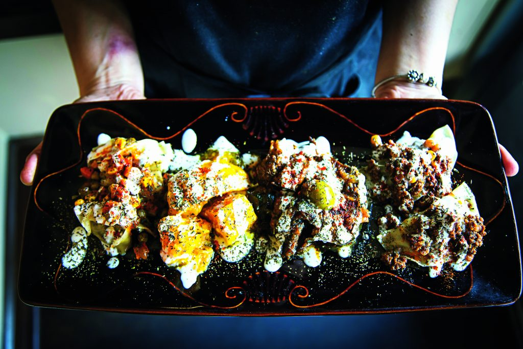 Afghan Bistro's warm mezze platter. Photo by Scott Suchman.