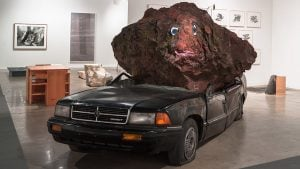 A Boulder Crushing a Car Will Soon Take Up Residence Outside the Hirshhorn Museum