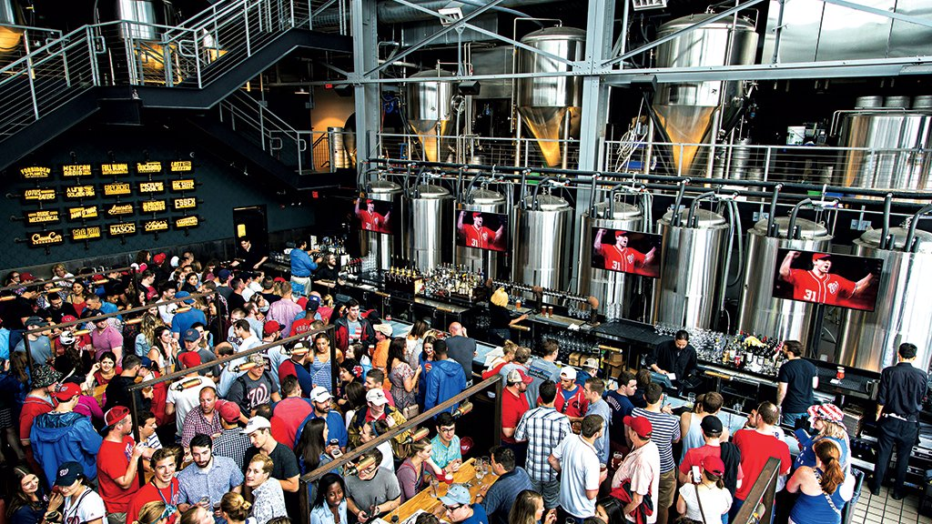 DC's Bluejacket brewery and restaurant is a go-to hangout for Nationals fans. Photograph by Scott Suchman.