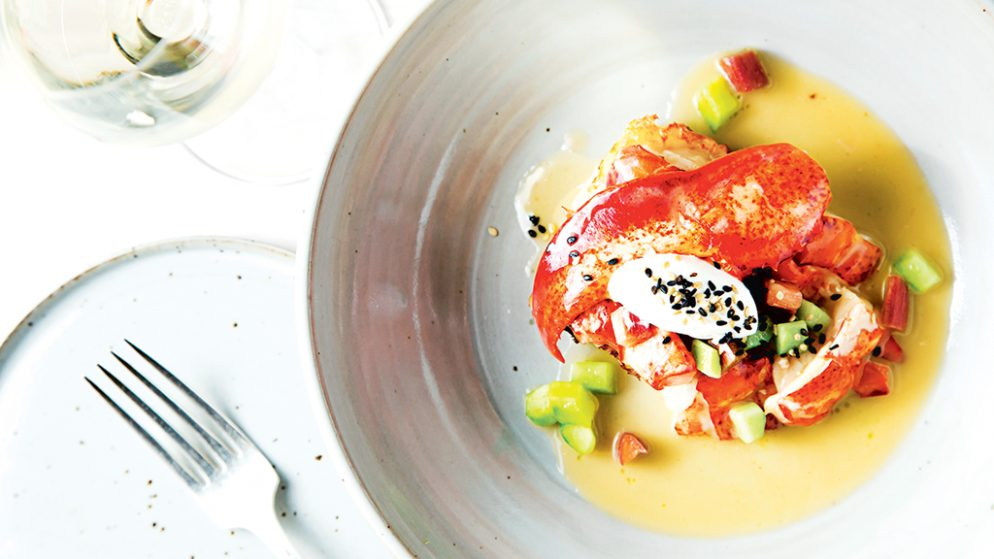 Brioche French toast with lobster. All photographs by Scott Suchman.