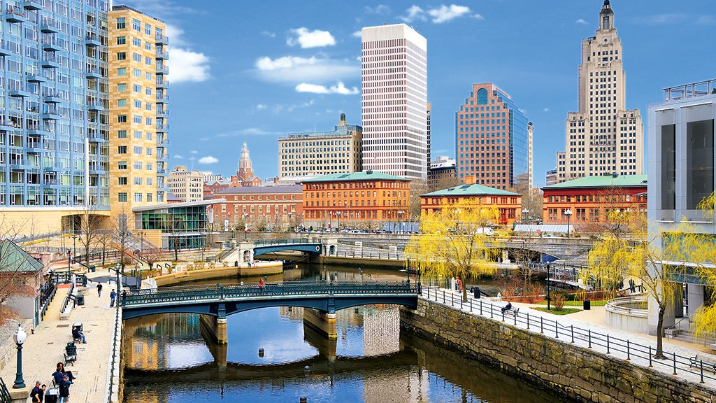 Providence's walkable riverfront. Photograph by Sean Pavone/Alamy.