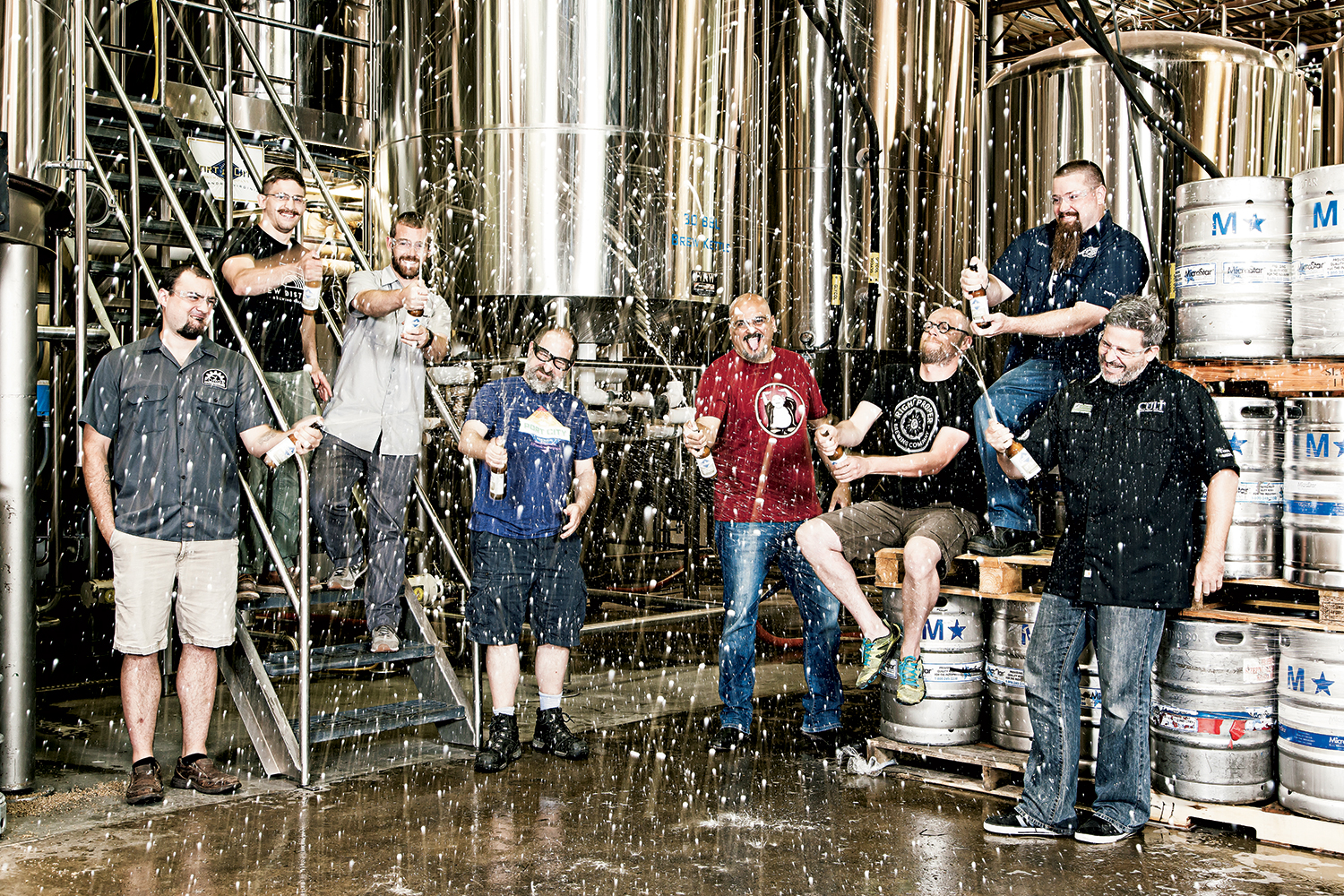 Washington brewers. Photograph by Scott Suchman. (August 2016/Beer)
