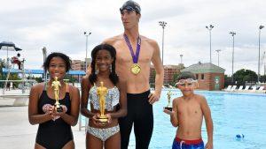 Wax Michael Phelps Visits DC Pool
