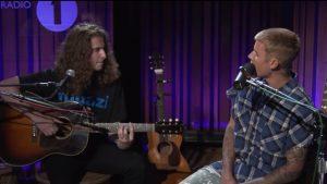 Justin Bieber's Guitarist Wears a Fugazi T-Shirt