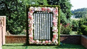 We Can't Believe This Escort Card Display Was Made by a Maryland Bride + Her Family