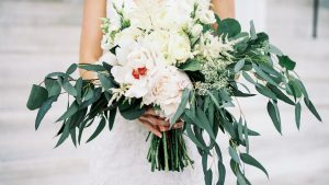 Copper and Greenery Turn This Classic DAR Wedding into Something Much More Modern