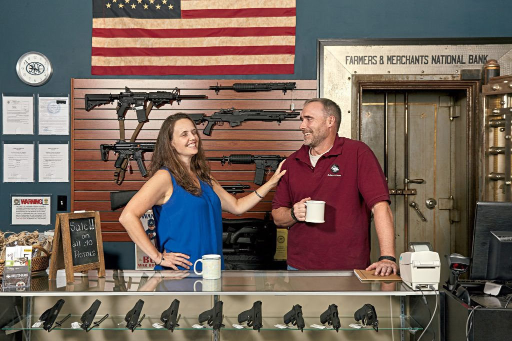 In parts of Virginia, it's easier to sell guns than coffee. Photograph by Jeff Elkins.