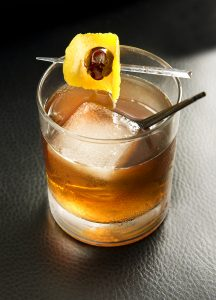 """Inspired by Donald Trump, """"The Best Word"""" is a sweet and herbal mix of Aperol, gin, house-made cherry liquor, and yellow chartreuse."""