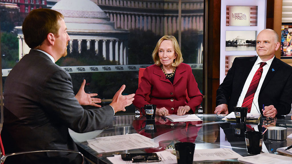 Fournier, with Chuck Todd and Doris Kearns Goodwin on Meet the Press.