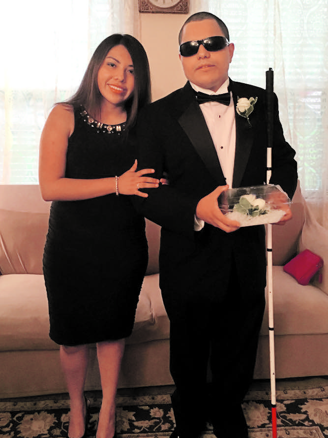 Leo at the prom with Arian Argote. Photo courtesy of the Cantos family.