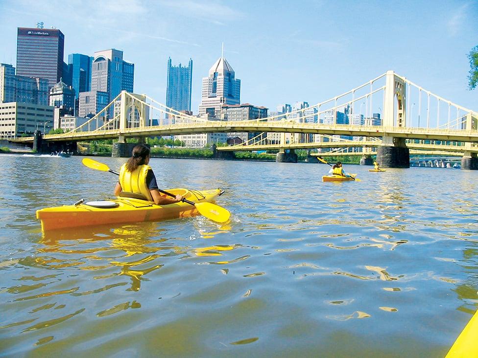 Kayak Pittsburgh Photograph of Kayak Pittsburgh courtesy of Visit Pittsburgh
